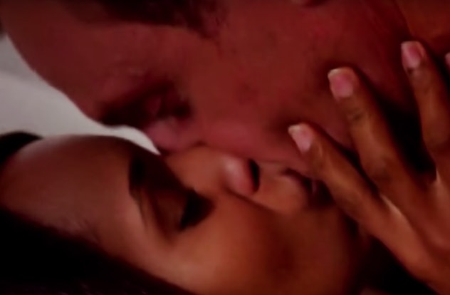 Olivia Pope and POTUS about to kiss.