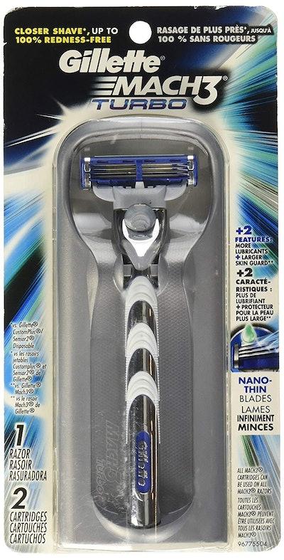 Gillette Mach3 Turbo Men's Razor With Refills