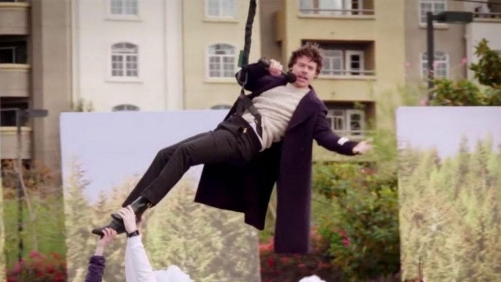 A screenshot from Harry Styles' 'Crosswalk Concert' With James Corden.