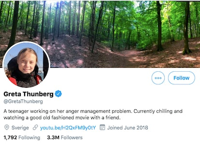 Greta Thunberg changed her Twitter bio after Trump mocked her TIME's cover story