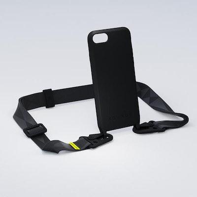 All Black Silicon Case + Laynard