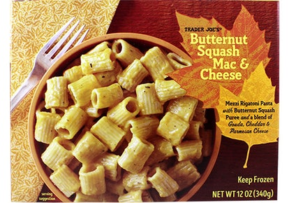 Trader Joe's frozen mac and cheese can be easily improved by adding some protein or veggies.