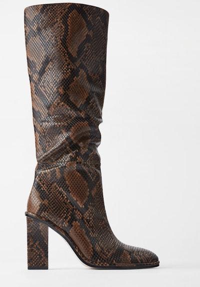 Heeled Animal Print Boots
