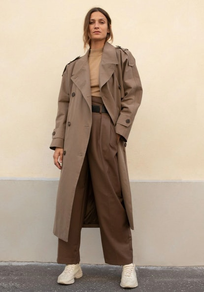 Horn Button Trench Coat
