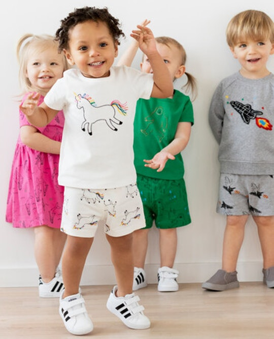 a group of kids wearing clothes from hanna andersson