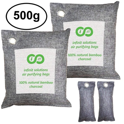 Infinit Bamboo Charcoal Air Purifying Bag (4 Pack)