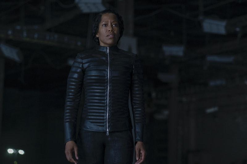 Angela Abar watches Doctor Manhattan get captured in the latest Watchmen.