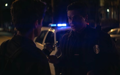 Joe gets questioned by a cop in 'You' Season 2