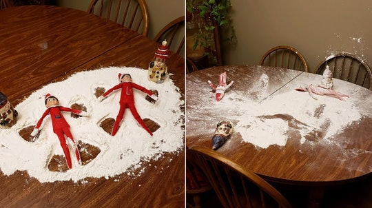 Siarra Swanson's cat destroyed her mom's Elf on the Shelf display.