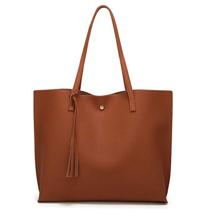 Breubae Women's Soft Faux Leather Tote