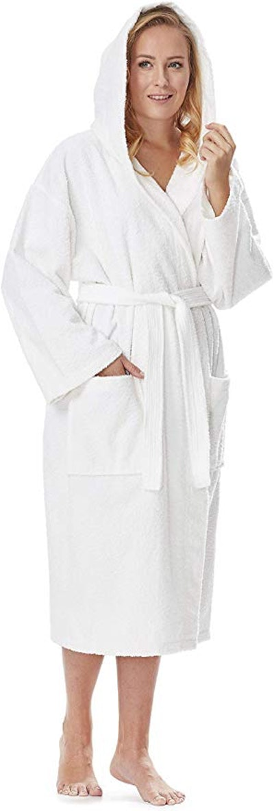 Arus Women's Classic Hooded Terry Cloth Bathrobe