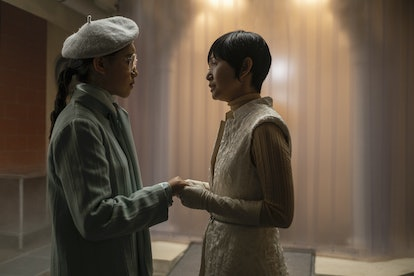 Bian and her daughter Lady Trieu before the final battle in 'Watchmen'.