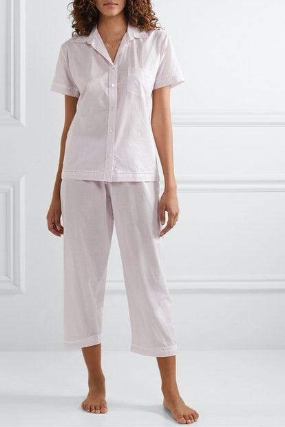 Lace-Trimmed Pajama Set