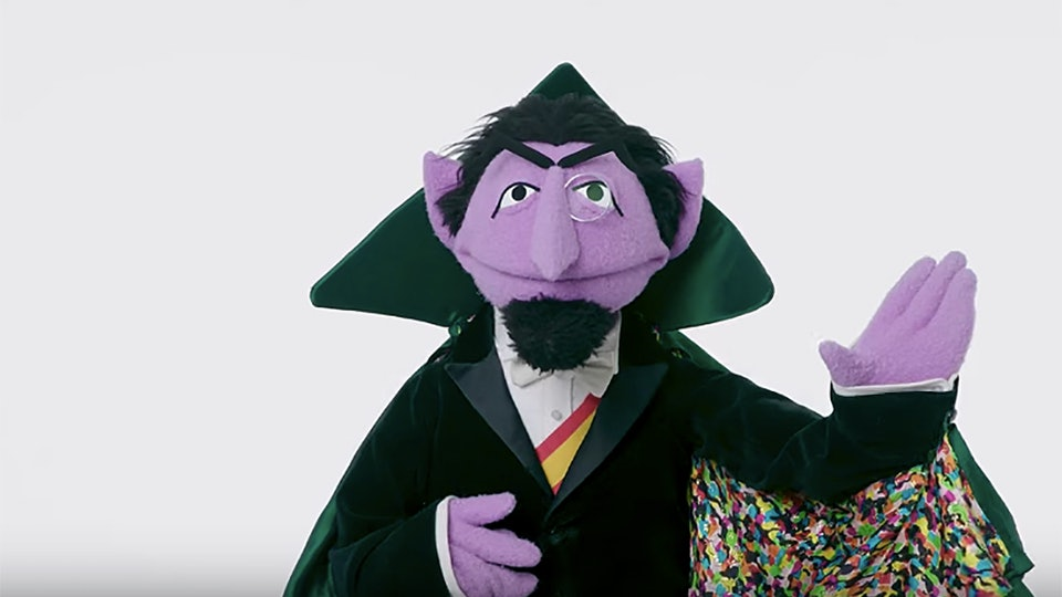 Sesame Street characters do impressions of each other for Vanity Fair.