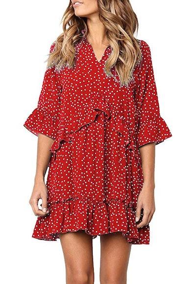 MITILLY Women's V Neck Dress