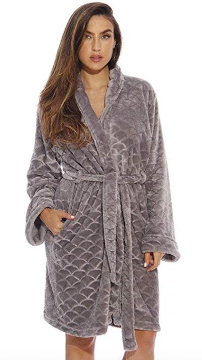 Just Love Velour Scalloped Texture Bath Robe