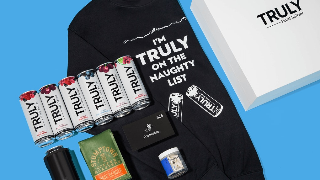 Truly's Survive The Holidays Gift Box Has Everything you need to keep your cool and have a laugh.
