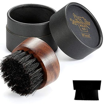 BFWood Round Beard Brush