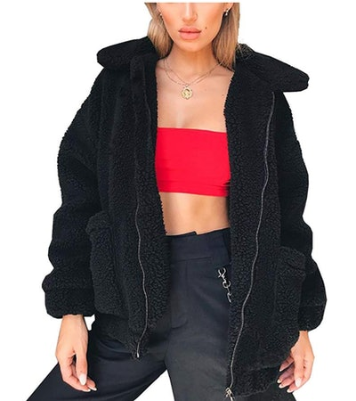 PRETTYGARDEN Women's Shaggy Winter Coat