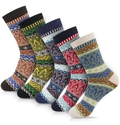 OKISS Women's Winter Socks (5-Pack)