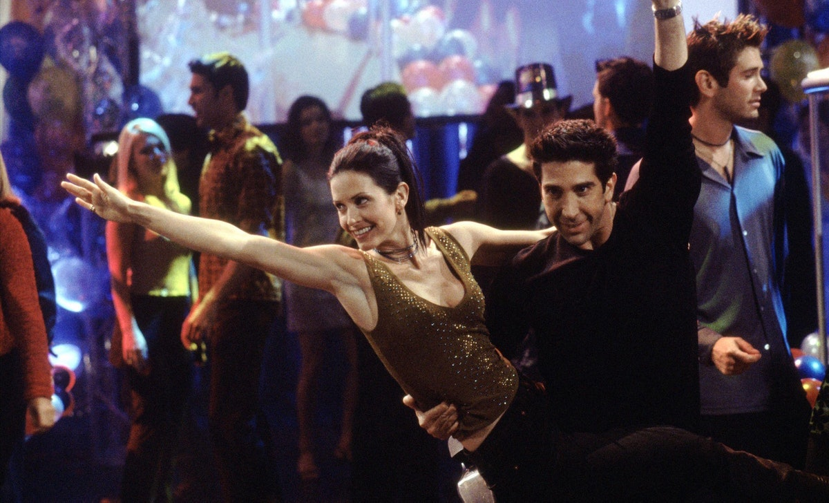 Ross and Monica performed their infamous dance routine to try to get televised on a New Year's Eve s...