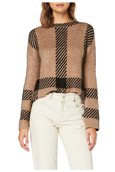find. Women's Loose Fit Pattern Crew Neck Sweater