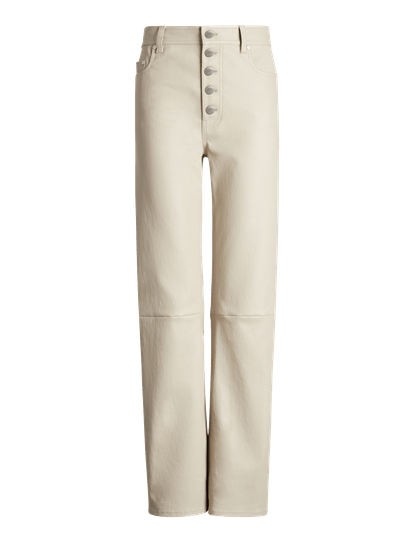Den Stretch Leather Trousers