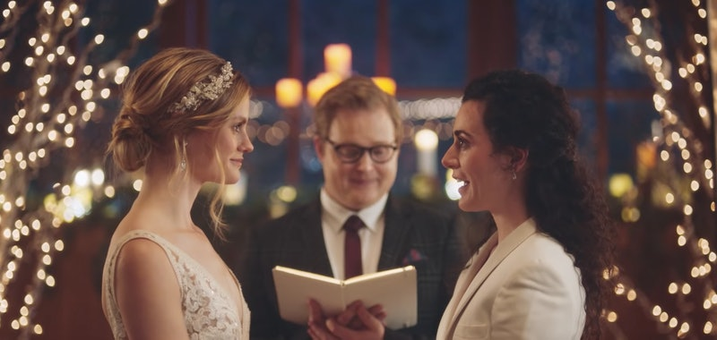 Zola same-sex couple wedding ad Hallmark