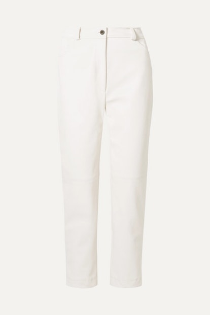 Hailey Faux Leather Straight-Leg Pants