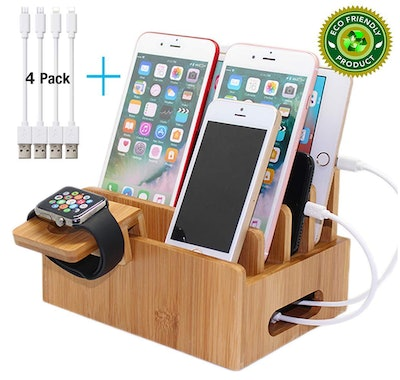 Pezin & Hulin Bamboo Charging Stations for Multiple Devices