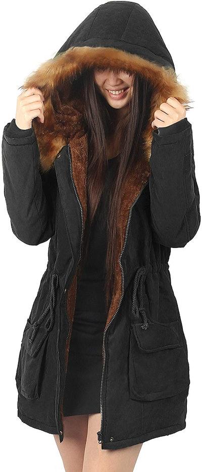 iLoveSIA Women's Hooded Warm Coat