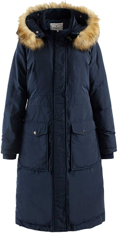Polydeer Women's Long Winter Puffer Coat