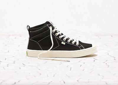 OCA High Washed Black Canvas Sneaker