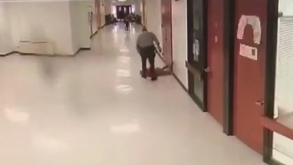 Surveillance footage caught a school resource officer slamming a student to the ground multiple times at a North Carolina middle school.