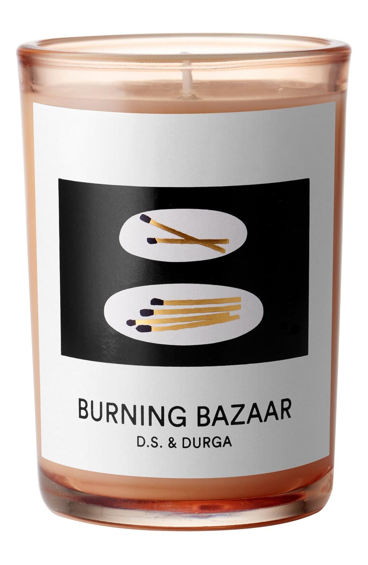 Burning Bazaar Candle