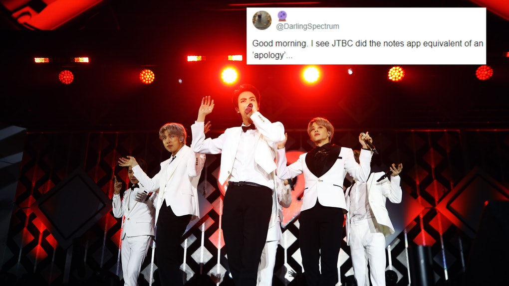 The tweets about JTBC's apology to BTS capture ARMYs' mixed feelings.