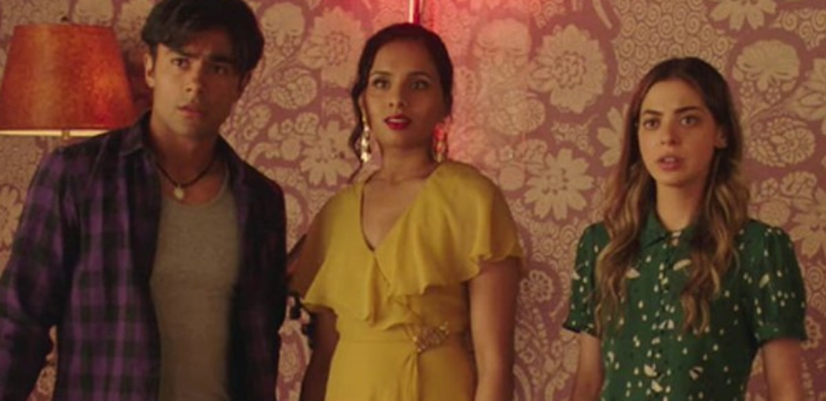 Gia Mantegna with 'The Dead Girls Detective Agency' co-stars Aparna Brielle and Brennan Mejia