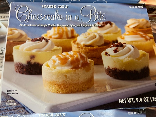 best trader joe's holiday desserts: cheesecake in a bite