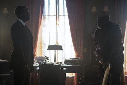 Yahya Abdul-Mateen II as Dr. Manhattan Louis Gossett Jr. as Will Reeves in Watchmen