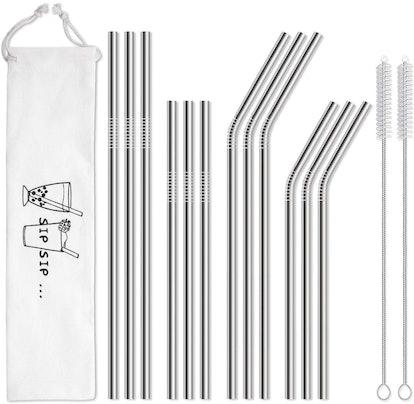 HIWARE Reusable Straws (12-Pack)