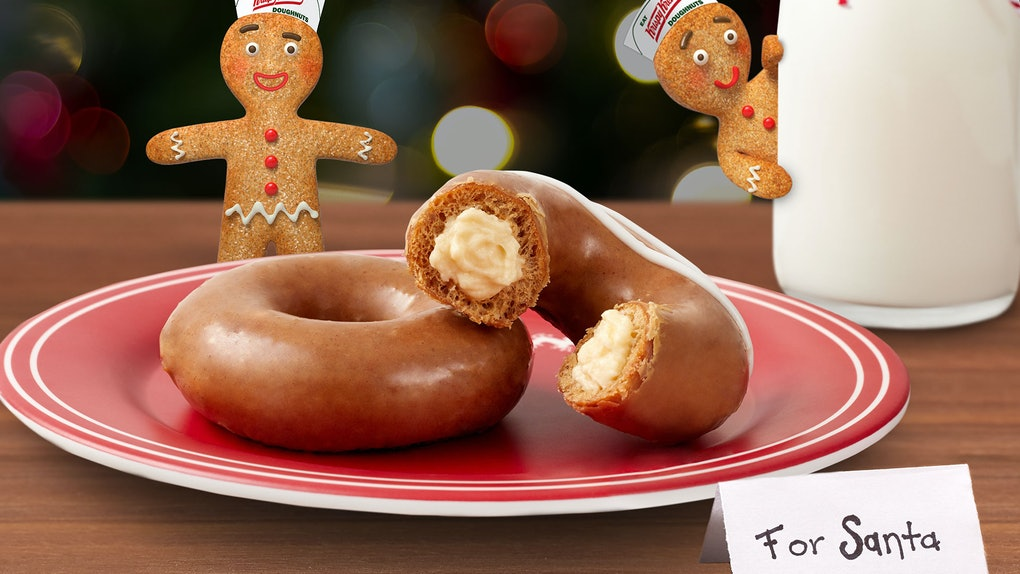 Krispy Kreme's Gingerbread Doughnuts For 2019 include a version filled with cheesecake Kreme.