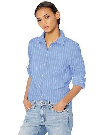 Amazon Essentials Women's Classic-Fit Long-Sleeve Poplin Shirt