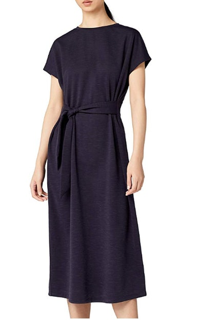 Meraki Women's Relaxed Fit Tie Front Midi Dress