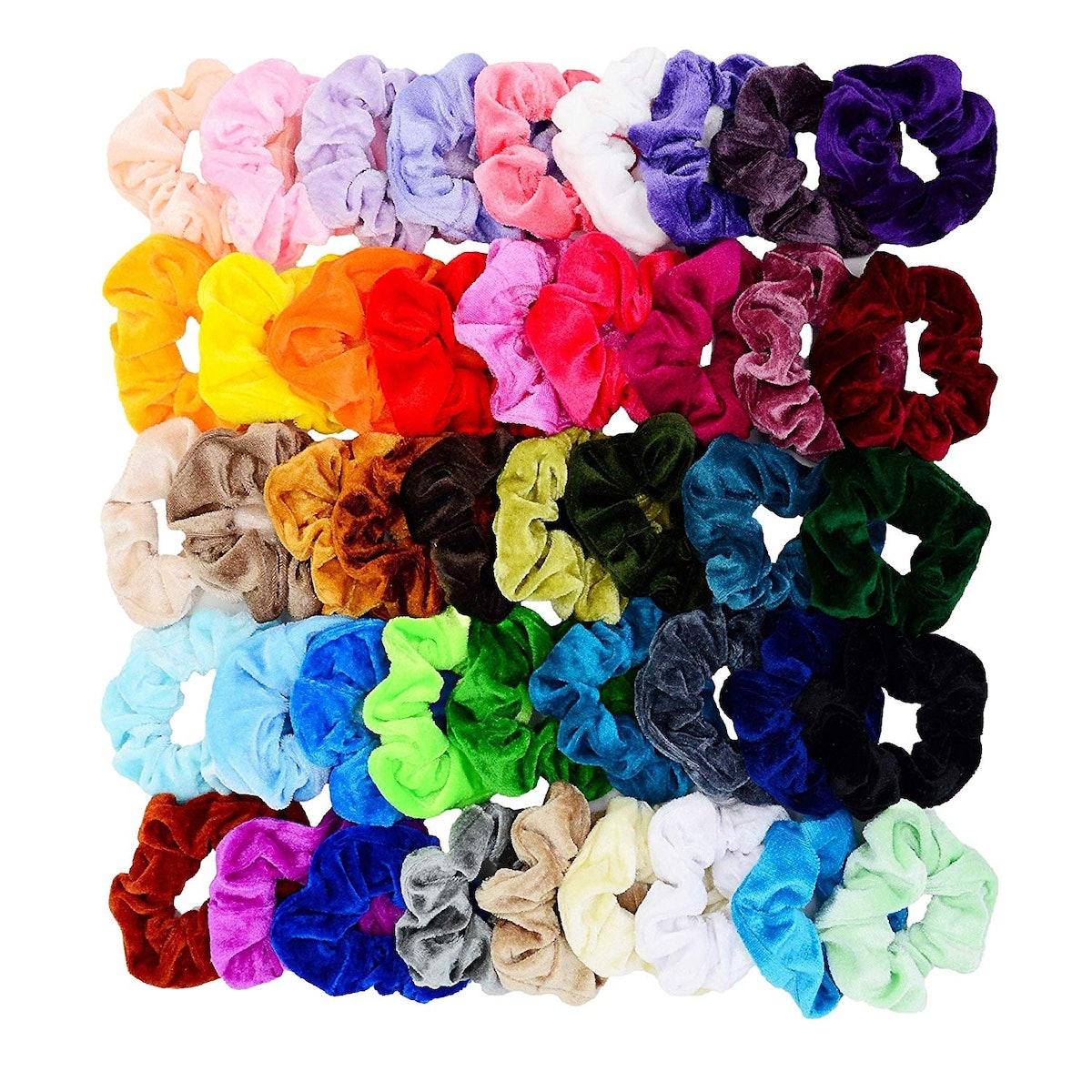 Chloven Velvet Hair Scrunchies (45-Pack)