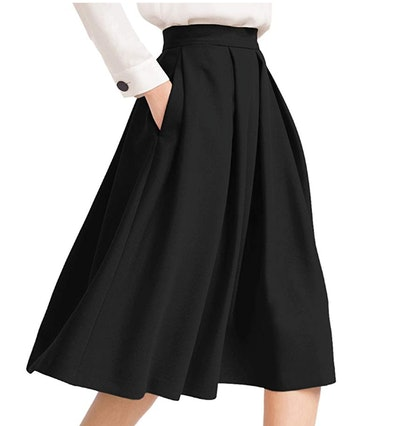 Yige Women's Midi Skirt with Pocket
