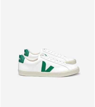 Esplar Leather Sneaker White Emeraude