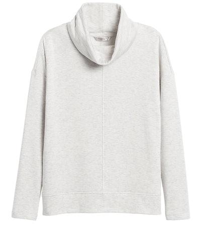 Fleece Funnel-Neck Sweatshirt