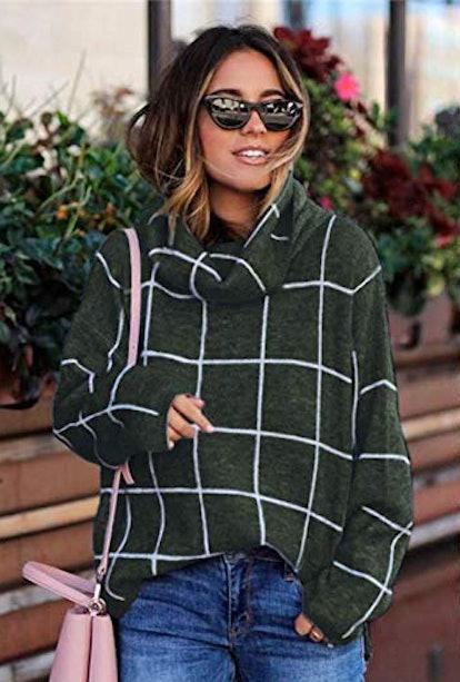 KIRUNDO Turtleneck Knit Sweater