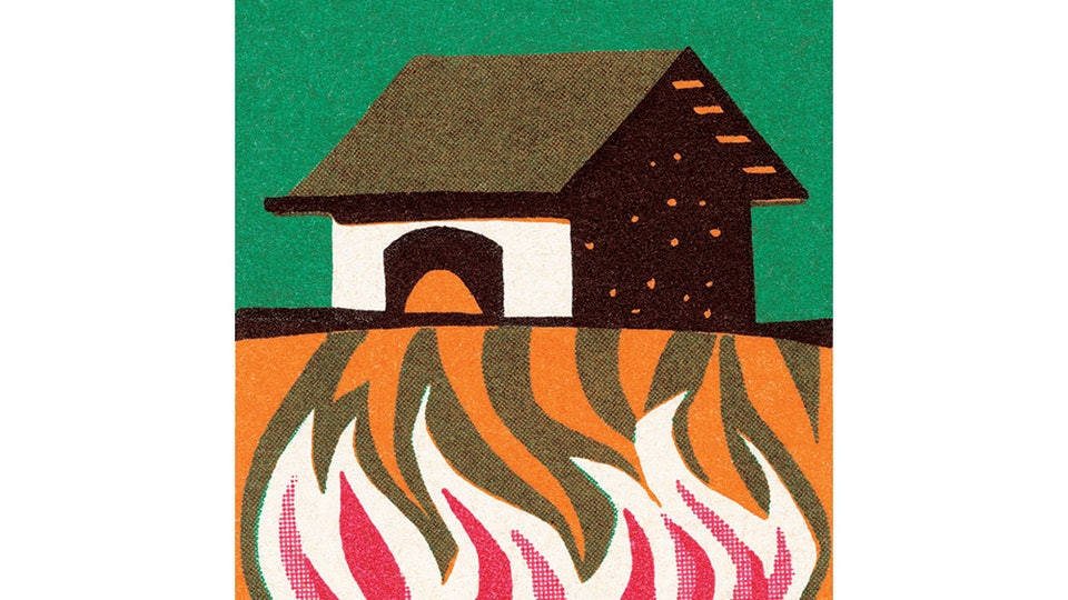 house on fire, design