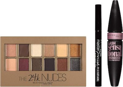 Maybelline New York NY Minute 24k Nudes Smoky Eye Makeup Gift Set
